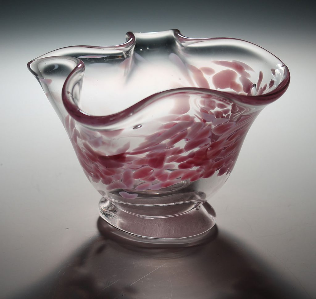 glass bowl made by student