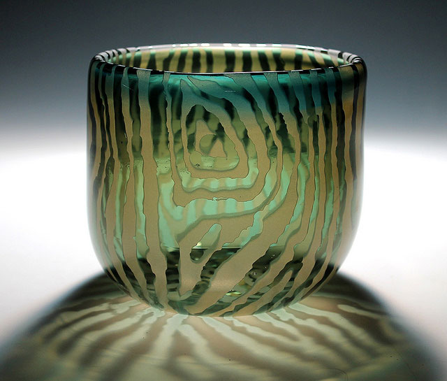glass cup made by student