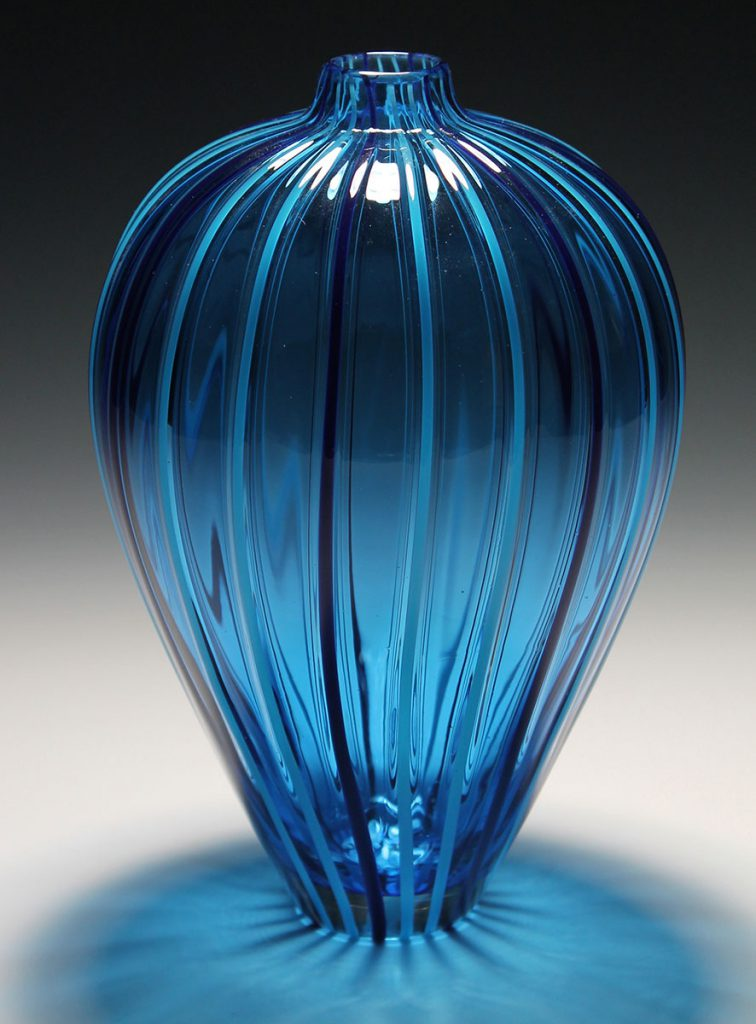 glass vase made by student