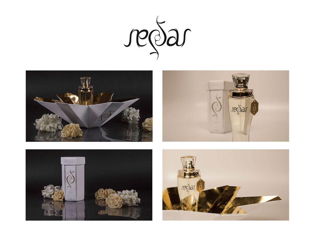 nectar logo and perfume packaging