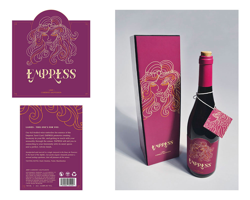 Empress wine packaging