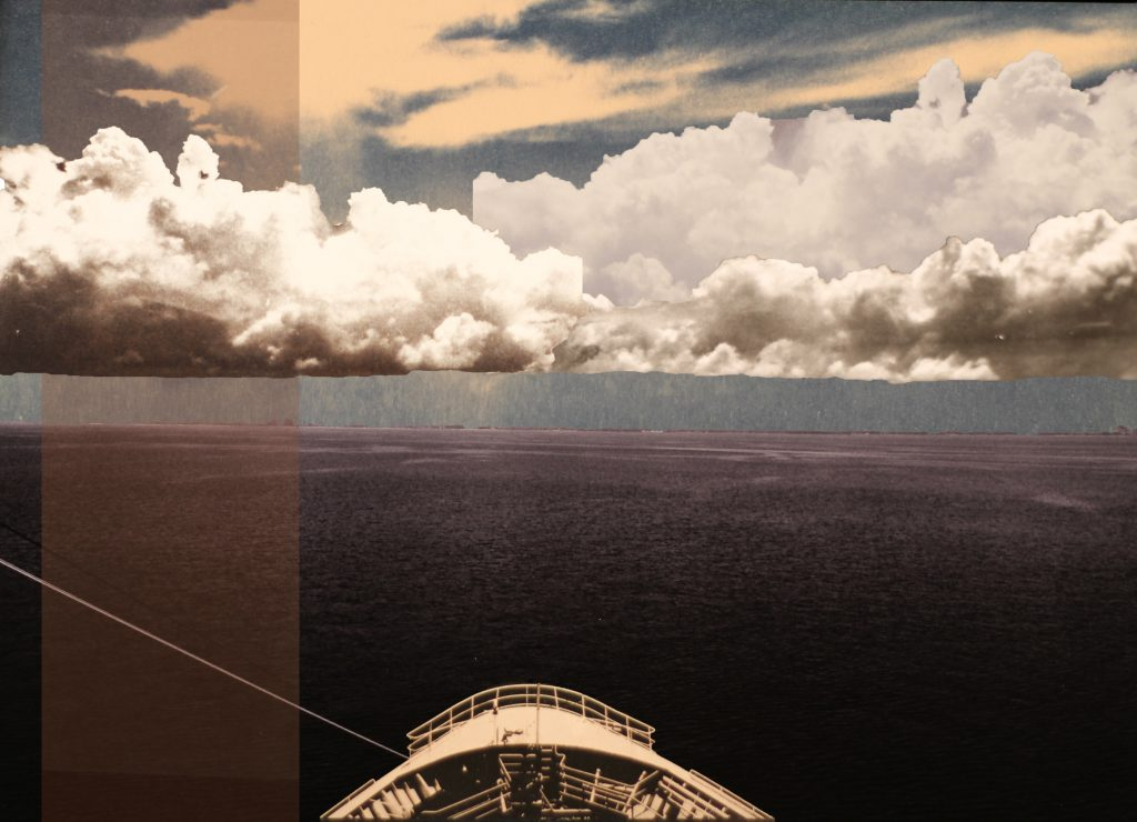student photo collage of clouds