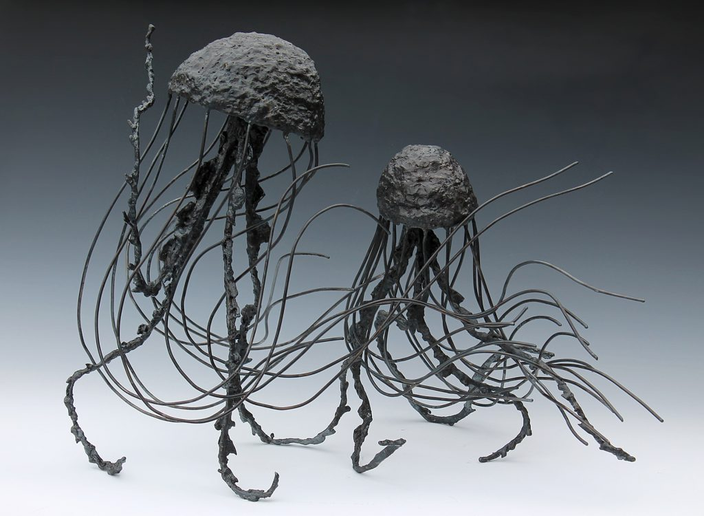 student sculpture of jelly fish
