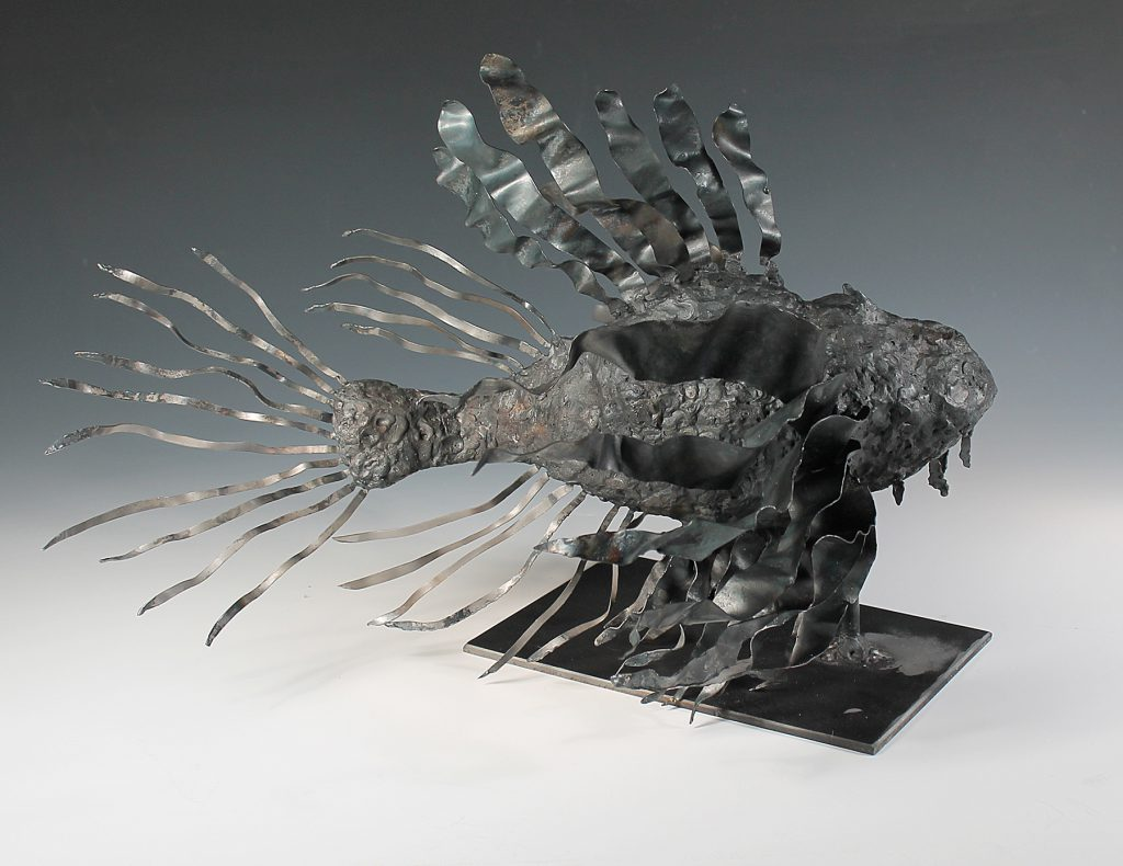 student sculpture of a fish
