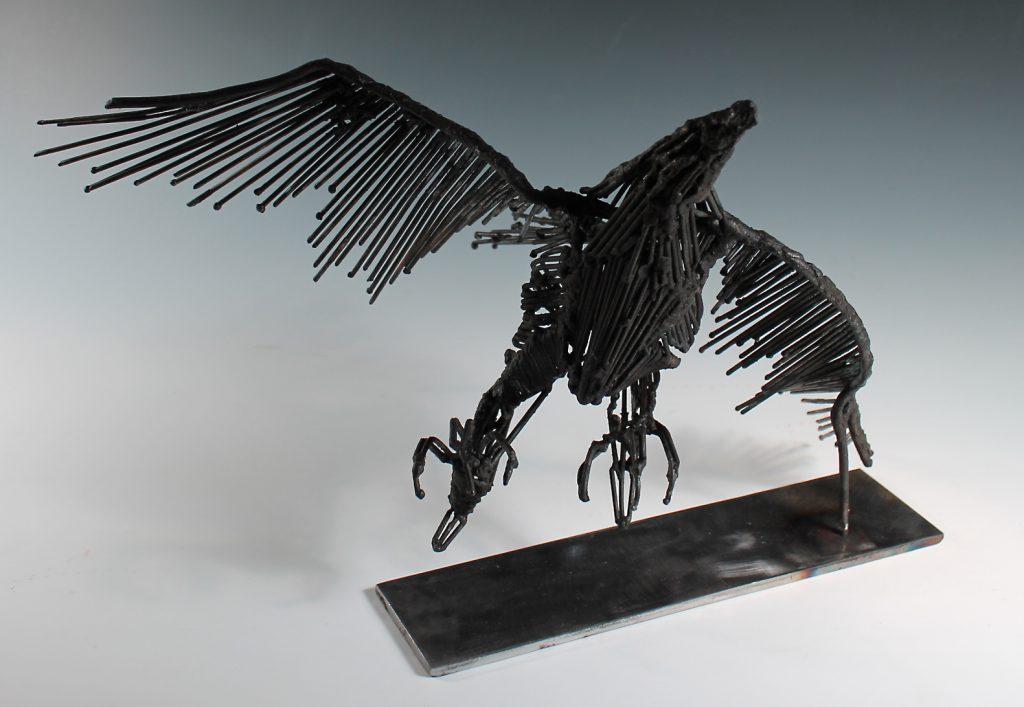 student sculpture of a bird