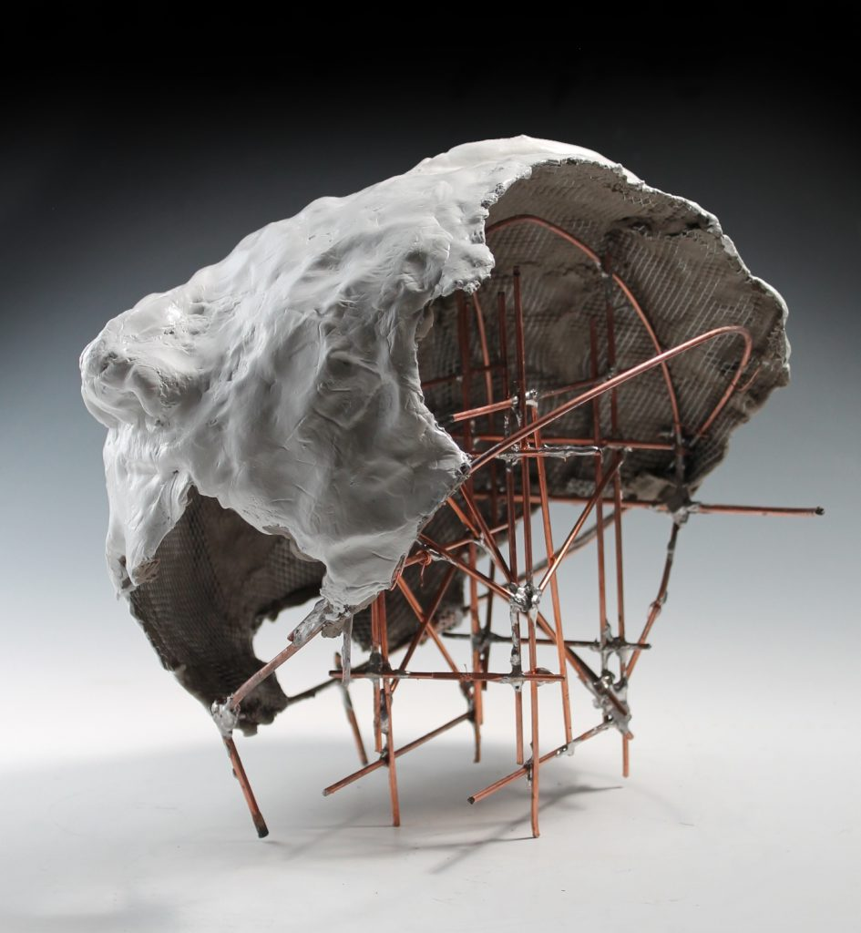 abstract student sculpture
