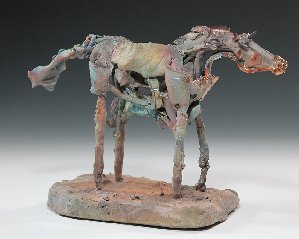 student sculpture of a horse