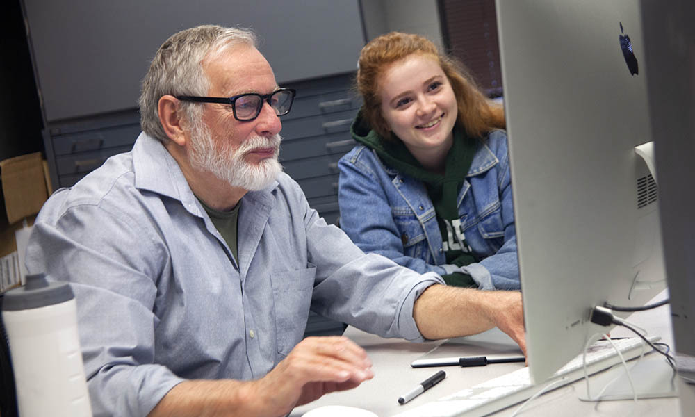 Professor May assists UNK student