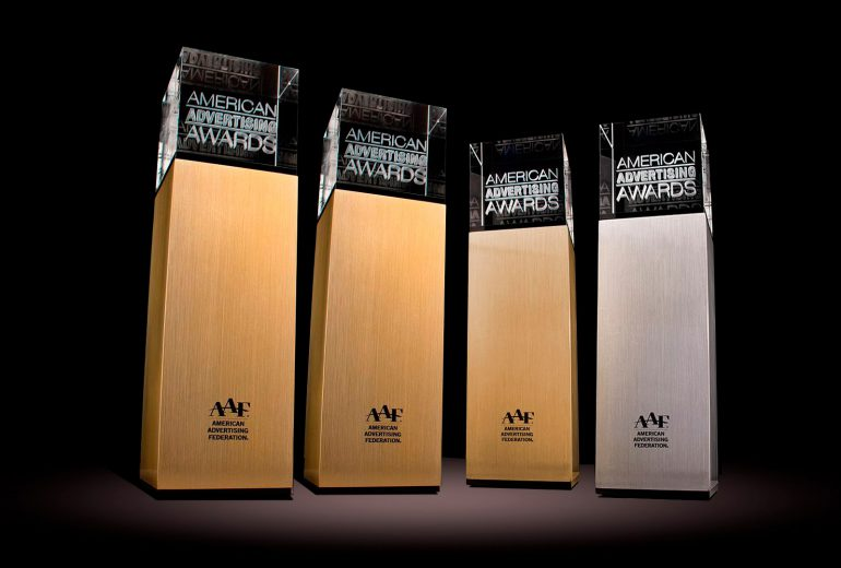 National ADDY awards trophies